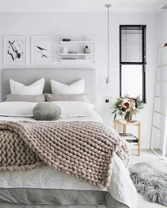 Best + Neutral Bedroom Decor Ideas On Neutral. Best + Neutral Bedroom Decor Ideas On Neutral. Best + Neutral Bedrooms Ideas On Neutral Bedroom. Art of Home Design. Neutral Bedroom Decor, Cozy Bedroom, Bedroom Apartment, Bedroom Ideas, Apartment Therapy, Bedroom Designs, Pastel Bedroom, Teen Bedroom, Bedroom Bed