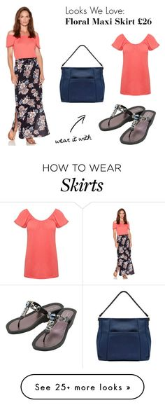"""""""Looks We Love: Floral Print Maxi Skirt"""" by mandco-fashion on Polyvore featuring Pia Rossini and M&Co"""