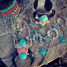 Western and bohemian jewelry from The Wacky Wagon.