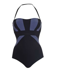 Sophina Icon Colour Block Panel Shaping Swimsuit in Black/Grey #SS14SWIM #BondGirlChic #figleaves