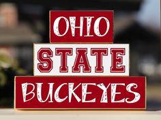 Ohio State University  Trio Wood Blocks by BlendedCreationsInc, $15.00