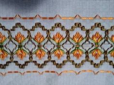 Discover thousands of images about Resultado de imagen para vagonite com fita zero Hand Embroidery Stitches, Silk Ribbon Embroidery, Embroidery Techniques, Swedish Weaving, Ribbon Work, Ribbon Crafts, Rococo, Needlework, Sewing