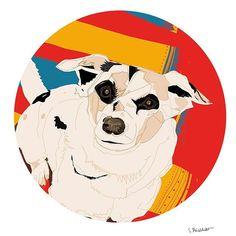 My friends dog Stefan 😊 #doggie #dog #polishwoman #polishgirl #illo #illustration #illustrationart #artoftheday #pickoftheday #portrait #pet #graphic #graphicdesign #sweet