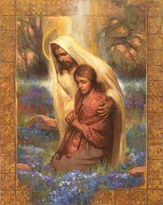 Jesus Calming the Storm: 10+ Comforting Images — Altus Fine Art Maria Jose, Kneeling In Prayer, Images Of Christ, Lds Art, Jesus Pictures, Christian Art, Religious Art, Jesus Christ, Jesus Art