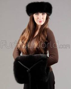 Fox Fur Flatbed Barrel Muff