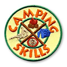 2 x 2 inches **IRON-ON backing for easy & Snappy application** Our Camping Skills fun patch is a perfect way to recognize the achievements of the children in your youth group or troop who join in with your camping themed activities and events. http://www.snappylogos.com/Camping-Skills-Fun-Patch/productinfo/2398/