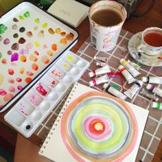 Monday morning color chart leftovers. #painting #art