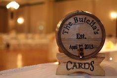 Mini wine barrel for card box