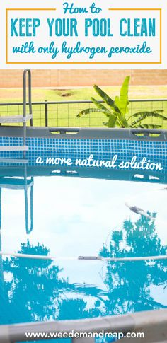 This is a great way to keep your pool sparkling clean! It does a better job than chlorine and is WAY better for you!