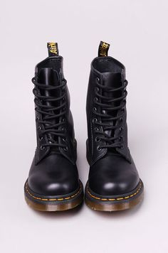 Doc Martins---so comfy! They work well with black leggings. I also have the black shoes & they are equally comfy.