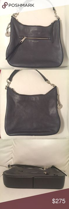 Marc Jacobs Leather Bag - Recruit Hobo- Like New! Absolutely gorgeous hobo bag by Marc Jacob. Shadow gray color with black accents and silver hardware. VERY lightly used- no marks or scratches inside or out. Smoke free home.   This comes from my personal collection and is 100% authentic. Marc Jacobs Bags Hobos