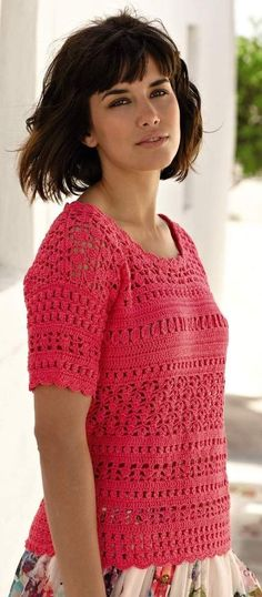 Kos crochet top in Rowan Siena 4ply