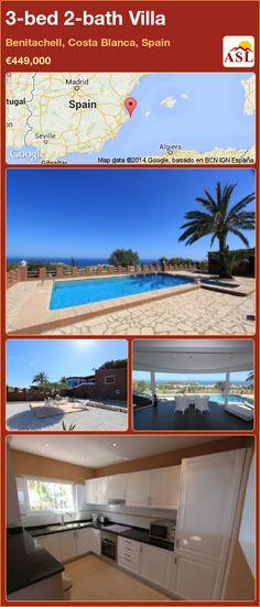 3-bed 2-bath Villa in Benitachell, Costa Blanca, Spain ►€449,000 #PropertyForSaleInSpain