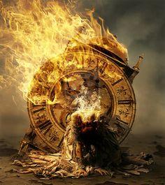 Model Fog Crack Fire Fire Clock Smoke my brush stoke ON Fire Clock Art, Prophetic Art, Time Warp, Surreal Art, Photomontage, Photo Manipulation, Dark Art, Fine Art Photography, Fantasy Art