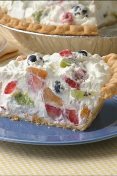 Fruit & Cream Pie - Top with a few slices of starfruit - perfect for summer celebrations!