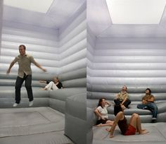 OMG this is the room me and my bff Britt always wanted!...a trampoline with padded walls...perfect!