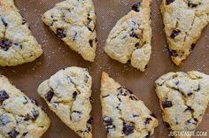 Chocolate Chunk Scones recipe on justataste.com