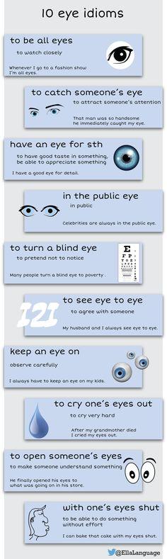 NEW! 10 eye idioms #ELT #ESL #English #idioms @Isltnbdllh Thanks again!