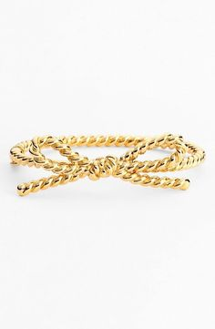 Skinny rope bow bracelet from kate spade