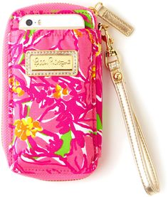 lilly pulitzer iphone 5 wristlet