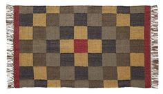 "Add depth and character to any room in your home by adding our Homestead Rectangle Kilim Rug 36x60""! https://www.primitivestarquiltshop.com/products/homestead-rectangle-kilim-rug-36x60 #primitivecountryrugs"