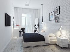 White is the perfect shade of bedroom design for every occasion. These 20 white bedroom ideas will help you create the perfect bedroom designs you always dream of. Small White Bedrooms, Small Master Bedroom, Small Rooms, Blue Bedrooms, Trendy Bedroom, Modern Bedroom, Bedroom Decor, Bedroom Ideas, Bedroom Headboards