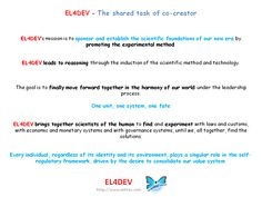 EL4DEV is an unconventional process run by a new kind of hybrid (both not-for-profit and for profit) and ethical organization aimed at achieving lofty objectives.  www.el4dev.com