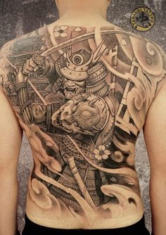 Chinese Qilin Temporary Tattoos - Nebula Home Lifestyle Back Tattoos For Guys, Full Back Tattoos, Full Body Tattoo, Body Art Tattoos, Sleeve Tattoos, Japanese Back Tattoo, Japanese Tattoos For Men, Japanese Tattoo Designs, Traditional Japanese Tattoos