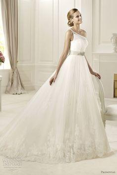 pronovias wedding dresses 2013 collection - diosa one shoulder bridal gown