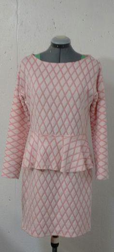 Woman's Fashion - Custom designed dress with long sleeves and peplum