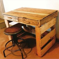Wood Pallet Office Desks