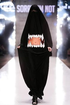 Shark Burka. Sorry, I Am Not F/W 2016 Runway Collection Show