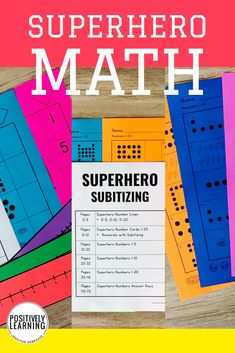 Math Practice for your superheroes! Subitizing with answer keys and visual support. Differentiation is easy with these ready-to-go math materials. Teaching Kindergarten, Student Learning, Teaching Ideas, Inclusion Classroom, Go Math, Eureka Math, Math Groups, Math Intervention, Math Practices