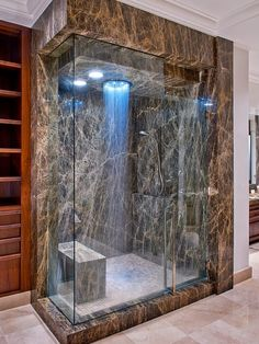 Hate the stone. But the shower head is awesome.