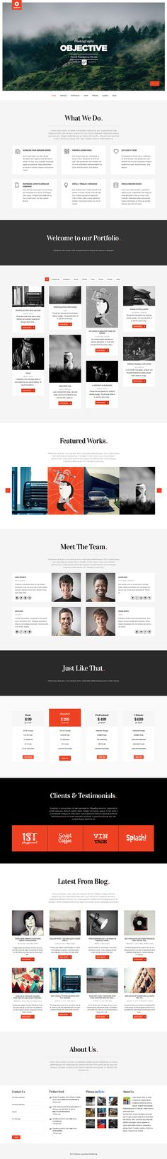 Objective - Responsive Portfolio Photography Theme