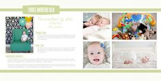 Templates for personalized baby books