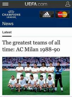 Ac milan greatest teams of all time
