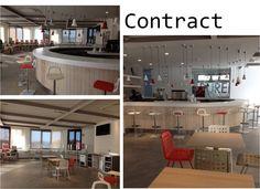 Desde www.internamaste.com y nuestro estudio decoración también desarrollamos proyectos para profesionales. Cafetería-Restaurante Valcarce - Una estación de servicio funcional, colorida, divertida, diferente.