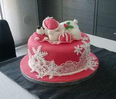 cake con l'orsetto natalizio