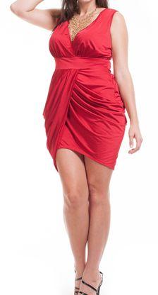 d546a3b4fb53b Jenny plus size dress in red. Curvy Girl Clothing  36.99 1x 2x 3x Curvy Girl