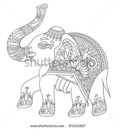 http://thumb101.shutterstock.com/display_pic_with_logo/701386/373121827/stock-vector-ethnic-indian-elephant-line-original-drawing-adults-coloring-book-vertical-page-black-and-white-373121827.jpg