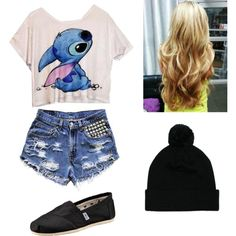 """Teen Outfit #95"" by kaelarabbit on Polyvore no to the beenie"