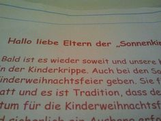 Einladung Kindergarten
