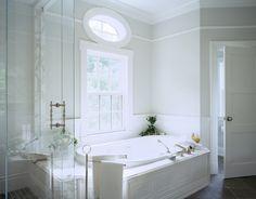 Suzie: Jan Gleysteen Architects - Stunning master bathroom with slate tiles floor, spa tub, ...