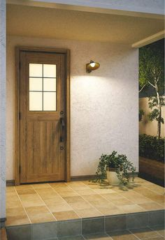 施工例 Entrance Doors, Garage Doors, Wood Doors, Tile Floor, New Homes, Tiles, Flooring, Mirror, Architecture