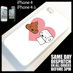 6.99£ Cover for iPhone 4/4S/4G Toilet>Funny>Cute>Cartoon>Cool>Quirky Phone Case