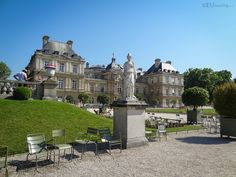 HD photographs of Jardin du Luxembourg free public gardens including its many different tourist attractions located in the Arrondissement of Paris. Luxembourg Gardens, Public Garden, More Photos, Statues, Palace, Backdrops, Castle, Mansions, House Styles