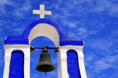 Blue sky and bell tower by Marite2007, via Flickr