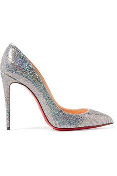 e510f3881b28 Christian Louboutin - Pigalle Follies 100 glittered leather pumps