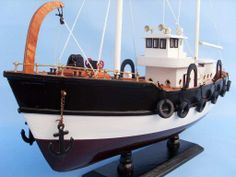 $79.99-Handcrafted Model Ships Seas the Day Fish Model Boat | Wayfair / MEAS. 20 LONG X 6 DEEP X 17 HIGH